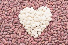 Heart Of The Beans. Stock Photo