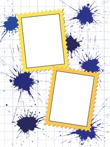 Free Vector Postage Stamps Frame Pattern Royalty Free Stock Photo - 19445395