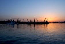 Free Port On Sunset Royalty Free Stock Photo - 19446135