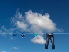 Free Clothes Line Stock Photography - 19446372
