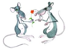Free Two Rats Royalty Free Stock Photography - 19446957