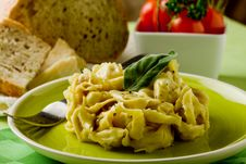 Free Tortellini With Butter And Sage Stock Images - 19447094