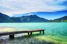 Free Pier On The Lake In The Salzkammergut. Austria Stock Photos - 19447163