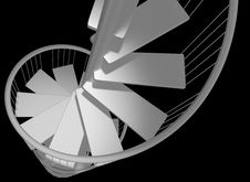 Free Spiral Staircase Descending With No Hope Royalty Free Stock Photos - 19447328