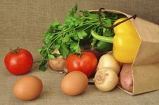 Free Vegetables In A Paper Package Royalty Free Stock Image - 19447816