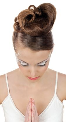 Brides Make Up Stock Image