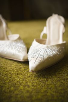 Free Wedding Shoes Royalty Free Stock Images - 19448309