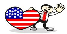 Free Illustration Of Love For America Royalty Free Stock Photography - 19449167