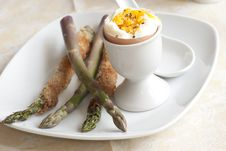 Egg With Asparagus Stock Photo