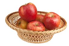 Free Basket With Apples Stock Image - 19449321