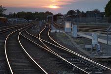 Free Railway Tracks Royalty Free Stock Photography - 19449527