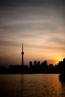 Free Toronto Harbor At Sunset Stock Image - 19449671