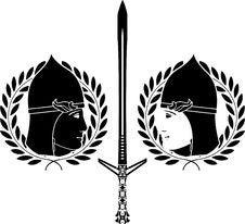 Slavonic Warrior. Stencil Royalty Free Stock Photos