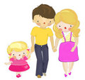 Free A Dad And A Pregnant Mom With A Little Daughter Royalty Free Stock Photo - 19451205