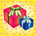 Free Two Boxes With Gift Stock Images - 19451694