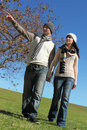 Free Young Couple Walking Royalty Free Stock Photography - 19454497