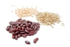 Free Red Haricot, Lentil And Peas Royalty Free Stock Photography - 19450027