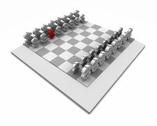 Free Chess Board With One Red Dollar Symbol Stock Photo - 19450770