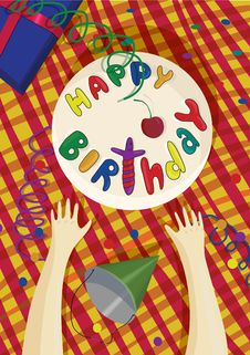 Poster Happy Birthday Stock Photo