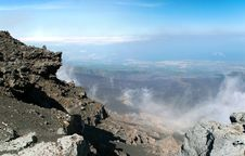 Free Panoramic View From Mount Etna Royalty Free Stock Photography - 19450957