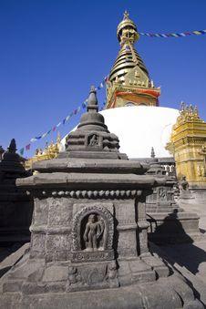 Monkey Temple Kathmandu Nepal Exterior Stock Photography