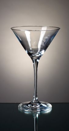 Free Empty Martini Glass Stock Photography - 19451402