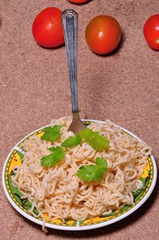 Free Noodles And Tomato Royalty Free Stock Photos - 19451598