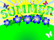 Free Summer Background. Royalty Free Stock Images - 19451999