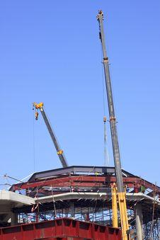 Crane In Construction Side Stock Photos