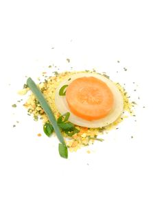 Free Soup Seasoning With Fresh Onion And Carrot Royalty Free Stock Photography - 19453497