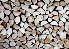Wooden Logs. Royalty Free Stock Images