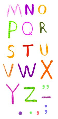 Fuzzy Funny Colorful Handmade Alphabet Isolated Stock Images