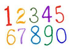 Free Fuzzy Colorful Handmade Alphabet Isolated Royalty Free Stock Image - 19453916