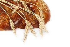 Free Pretzel With Ears Of Wheat. Royalty Free Stock Photography - 19454027