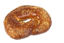 Free Pretzel With Crushed Nuts. Royalty Free Stock Image - 19454056