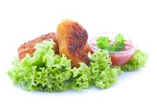 Free Nuggets And Ketchup Stock Photo - 19454310