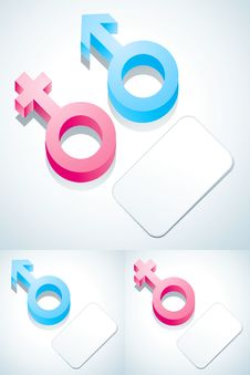 Free Symbols Of Male And Female Royalty Free Stock Image - 19454366