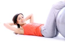Free Young And Beutiful Girl Doing Yoga Exercises Stock Photography - 19454412