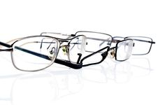 Free Broken Black Eyeglasses Royalty Free Stock Image - 19454456