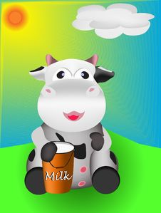Free Cow And Milk Stock Photos - 19455013
