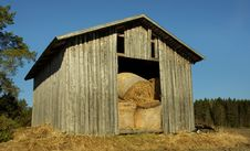 Country Barn With Hay Stock Photos