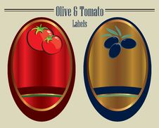 Free Olive And Tomato Labels Stock Photo - 19456200
