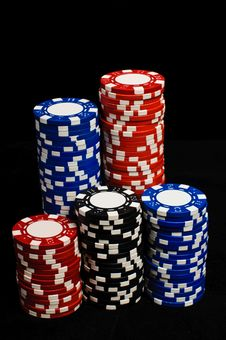 Free Gambling Chips Stock Images - 19456364
