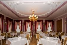 Classic Interior Of Restaurant Stock Photography