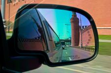 Free City View Reflection In Mirror Stock Photos - 19456953