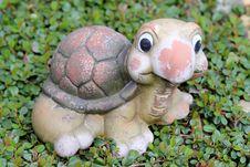 Decorative Turtle Figurine In Garden