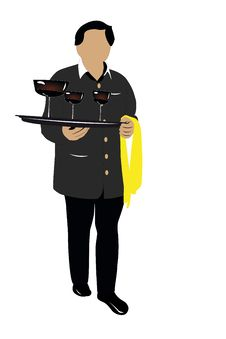 Free Waiter Royalty Free Stock Photos - 19457208