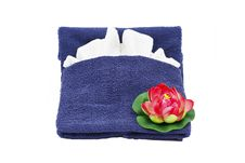 Towel And Flower Royalty Free Stock Image