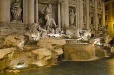 Free Roma - Fontana Di Trevi At Night Royalty Free Stock Image - 19457856