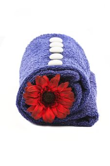 Towel And Flower Stock Image
